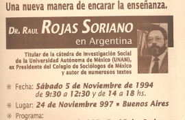 raul rojas soriano conferencias latinoamerica